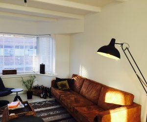 Stucwerk Haarlem Noord appartement woonkamer